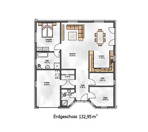 Das Ausgewogene 135 Floorplan 1