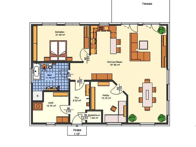 Amelie von AVOS Hausbau Grundriss 1