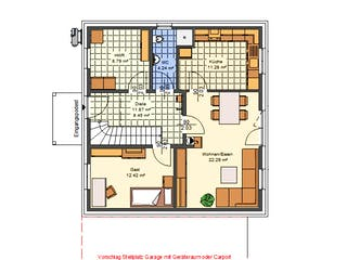 Dorina von AVOS Hausbau Grundriss 1