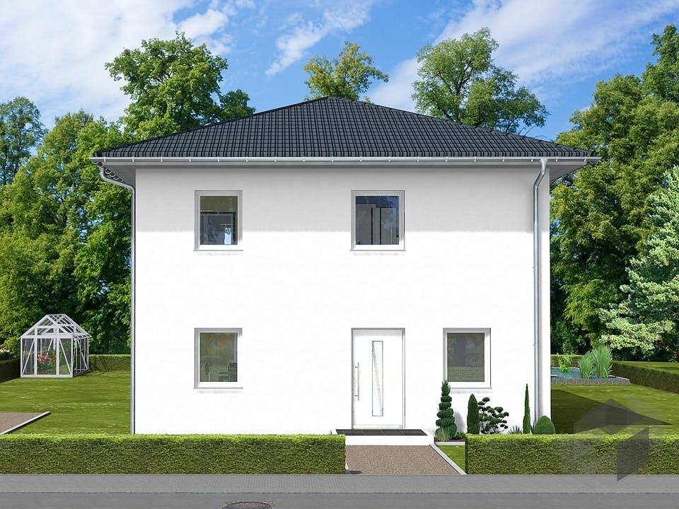 Pia von AVOS Hausbau Außenansicht