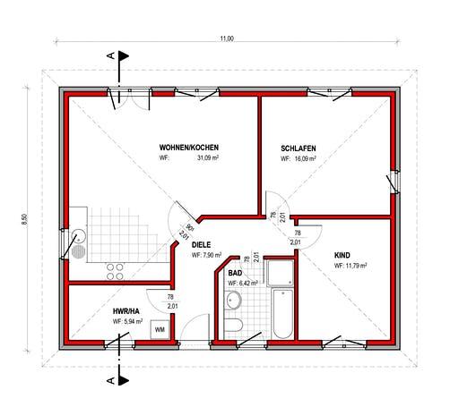 BK Bau-Konzept B100 Floorplan 1