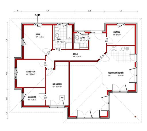BK Bau-Konzept B600 Floorplan 1