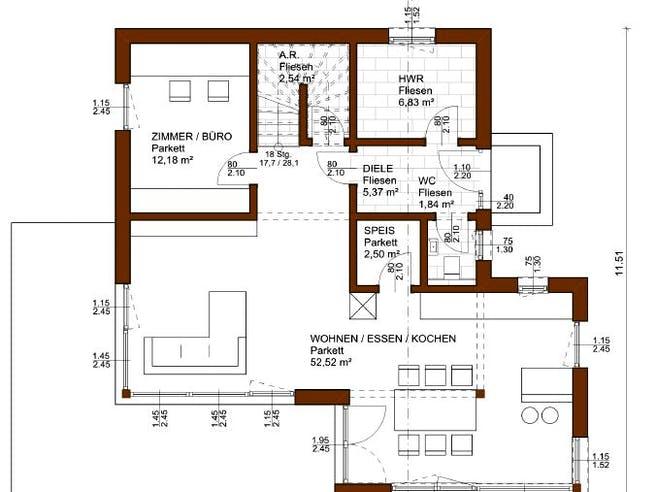 Balance 146 von Rubner Haus - Österreich Grundriss 1