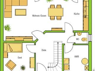 Bari von HELMA Eigenheimbau Grundriss 1