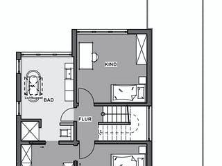 Bauen auf engstem Raum von Meisterstück-HAUS Grundriss 1