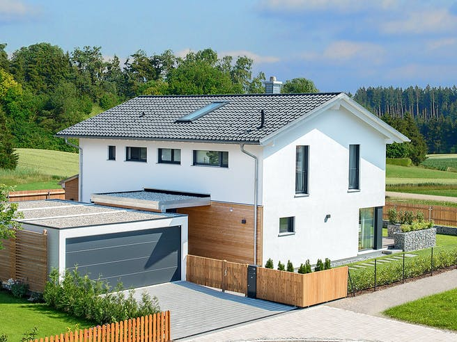 Herb - Kundenhaus von Baufritz Außenansicht 1
