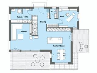 Herb - Kundenhaus von Baufritz Grundriss 1