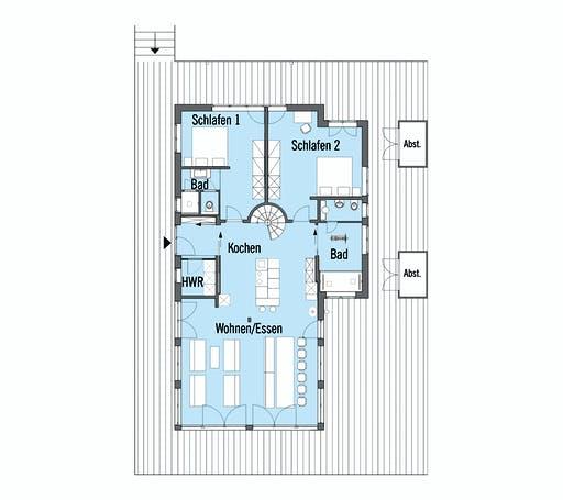 Baufritz - Mommsen Kundenhaus Floorplan 1