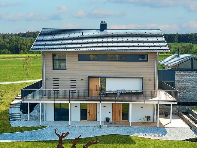Heimat 4.0 - Musterhaus von Baufritz Außenansicht 1