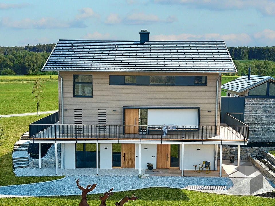 Heimat 4.0 - Musterhaus von Baufritz Außenansicht