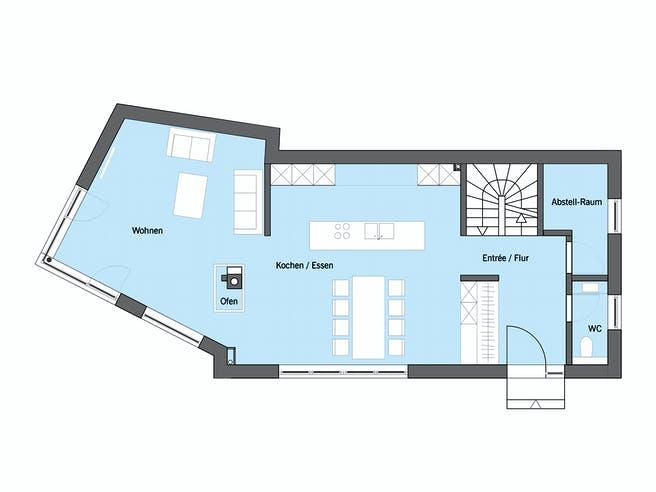 Ehrmann - Kundenhaus von Baufritz Grundriss 1