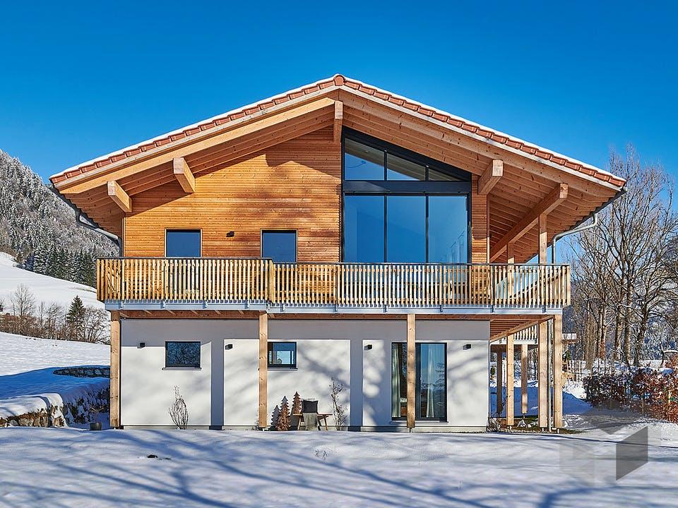 Horn - Kundenhaus von Baufritz Außenansicht
