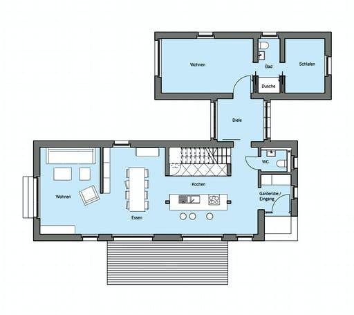 Baufritz - Lichtblick Floorplan 1