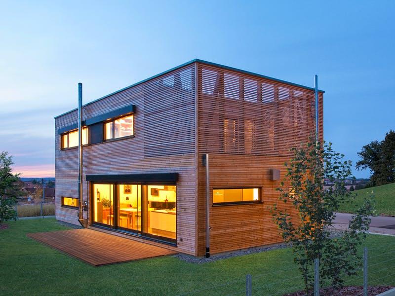 Modernes Holzhaus von Baufritz