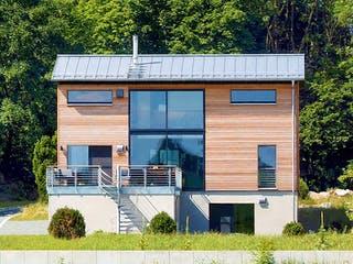 Schellenberg - Kundenhaus von Baufritz Außenansicht 1