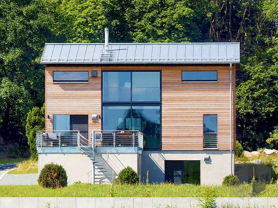 Schellenberg - Kundenhaus von Baufritz Außenansicht