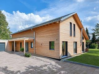 Schweiger - Kundenhaus von Baufritz Außenansicht 1