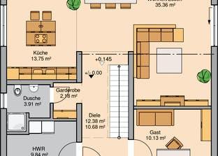 Bauhaus Linea Grundriss