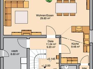 Bauhaus Novum von Kern-Haus Grundriss 1