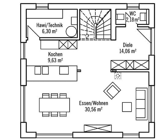 Bauhaus v2 von baufritz komplette daten bersicht for Floor plans for 160 000
