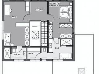 Bauhaus-Villa von Meisterstück-HAUS Grundriss 1