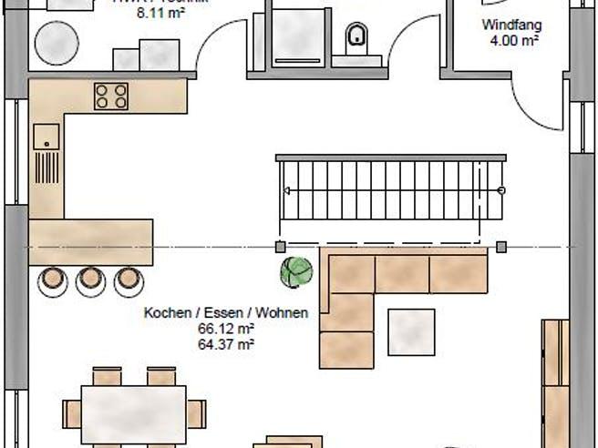 Bauhaus 161 von Suckfüll - Unser Energiesparhaus Grundriss 1