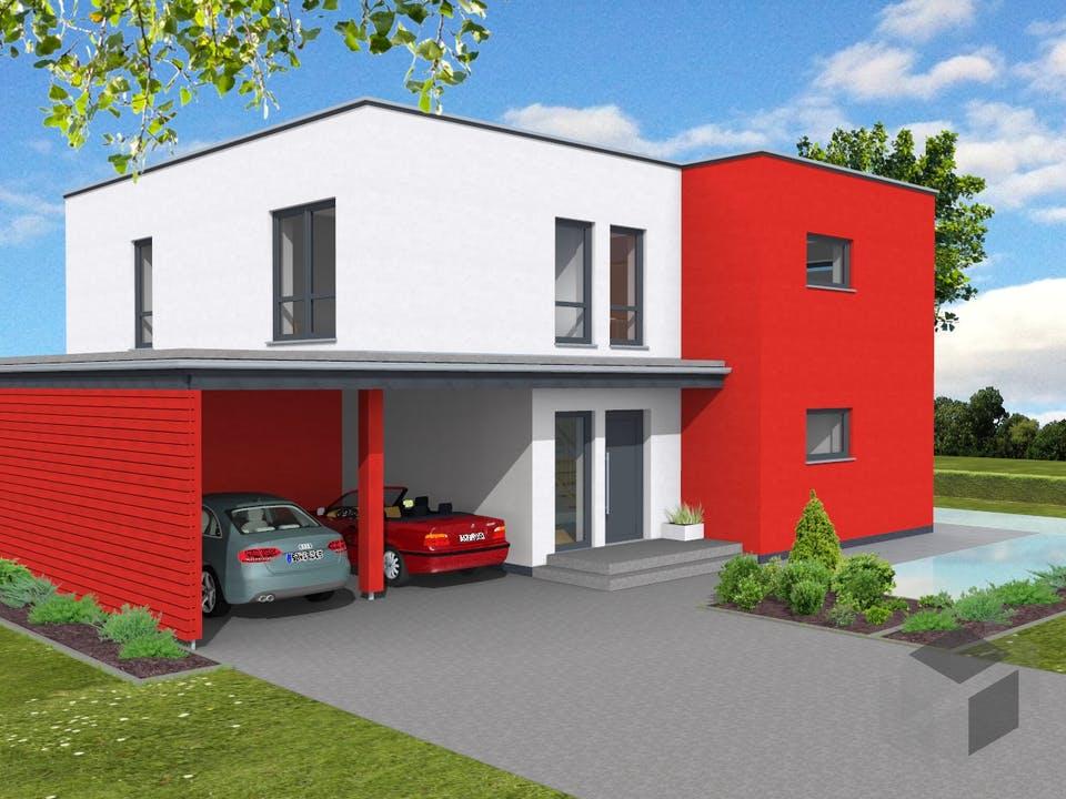 Bauhaus 197 von Suckfüll - Unser Energiesparhaus Außenansicht
