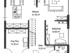 Bauhaus-Stil Grundriss