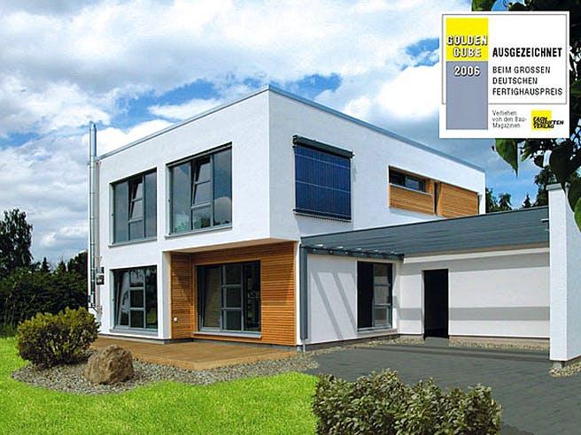 Meisterstück Haus - Bauhaus-Stil Außenansicht 01