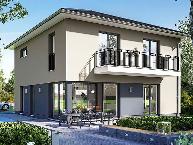 Moderne Stadtvilla von BauIdee Wohlfühl-Häuser
