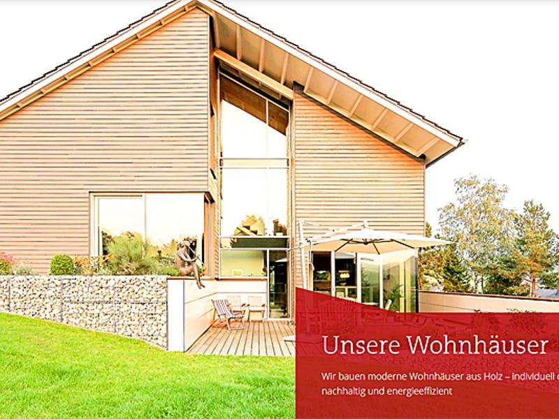 Satteldachhaus aus Holz von Becker 360