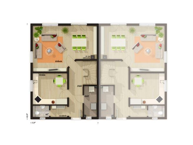 Behringen 116 Trend Floorplan 1