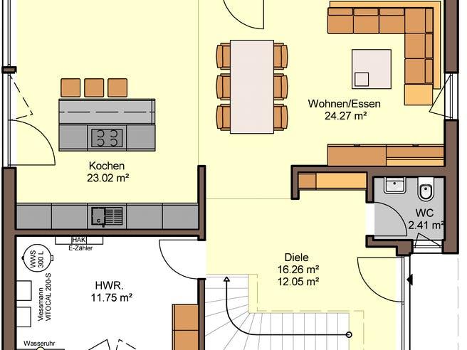 Belando von Büdenbender Hausbau Grundriss 1