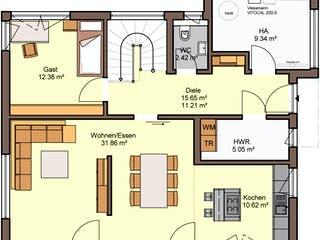 Bellisimo von Büdenbender Hausbau Grundriss 1
