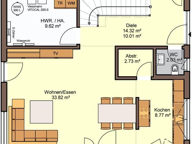 Bellocio von Büdenbender Hausbau Grundriss 1