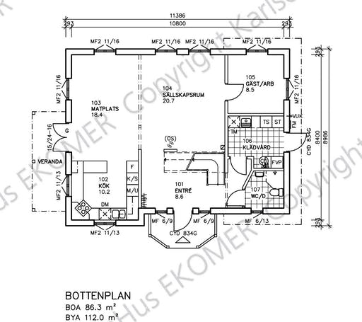 Bergvik Floorplan 1