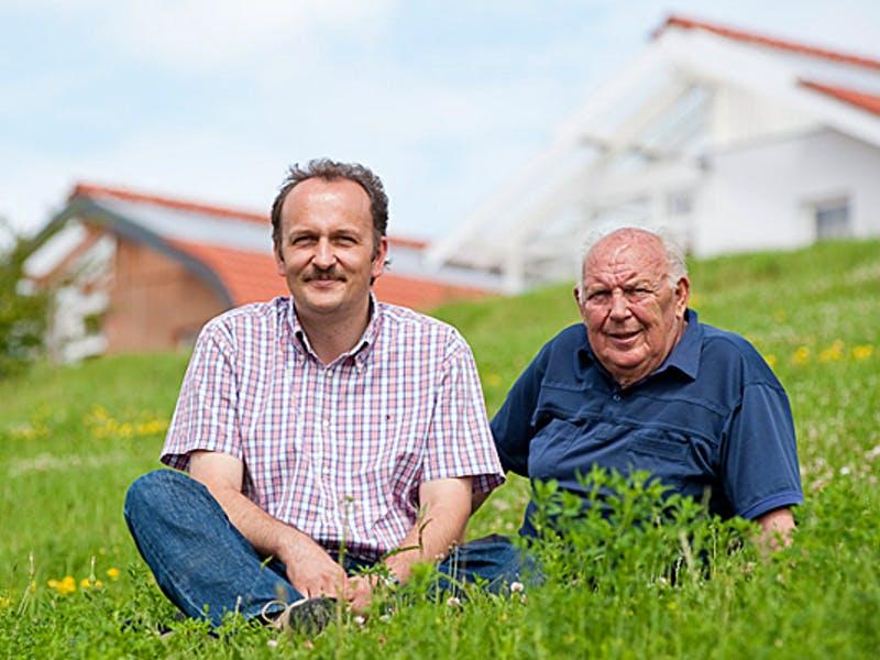 Klaus Becher und sein Neffe von Bio-Solar-Haus
