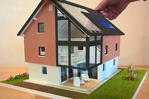 Modellhaus von Bio-Solar-Haus