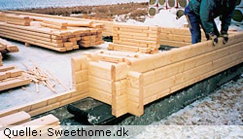 Haus in Blockbohlenbauweise