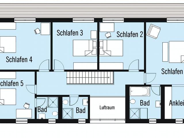 Grundriss 5 Schlafzimmer