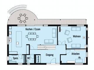 Bond - Kundenhaus von Baufritz Grundriss 1