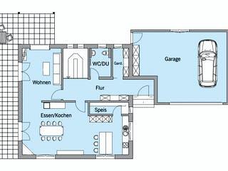 Bongart - Kundenhaus von Baufritz Grundriss 1