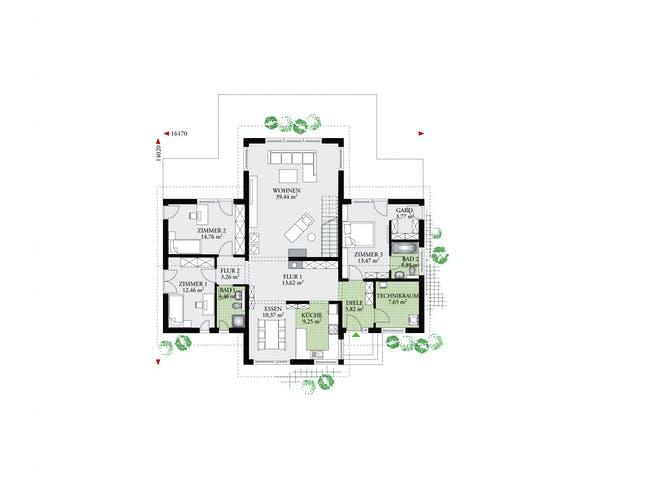 Brave 176 von DAN-WOOD HOUSE - Österreich Grundriss 1