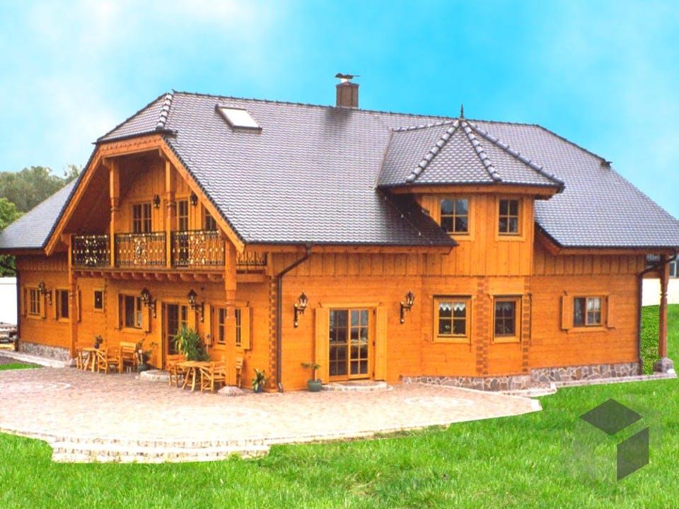 Breitkogel von Tirolia Blockhaus Außenansicht
