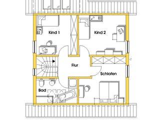 Britta (KfW-Effizienzhaus 40) von Dammann-Haus Grundriss 1