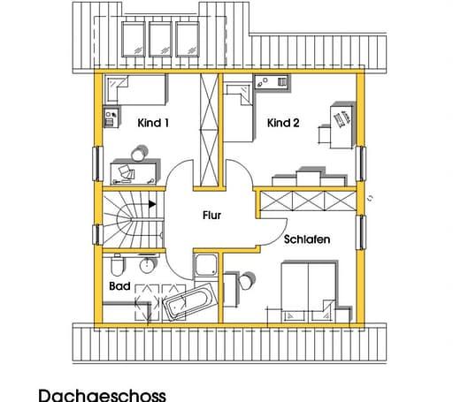 britta kfw effizienzhaus 40 von dammann haus komplette. Black Bedroom Furniture Sets. Home Design Ideas