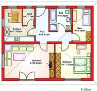 BS 80 Bungalow (inactive) Grundriss