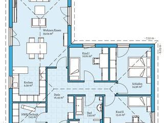 Bungalow 113 von Hanse Haus Grundriss 1