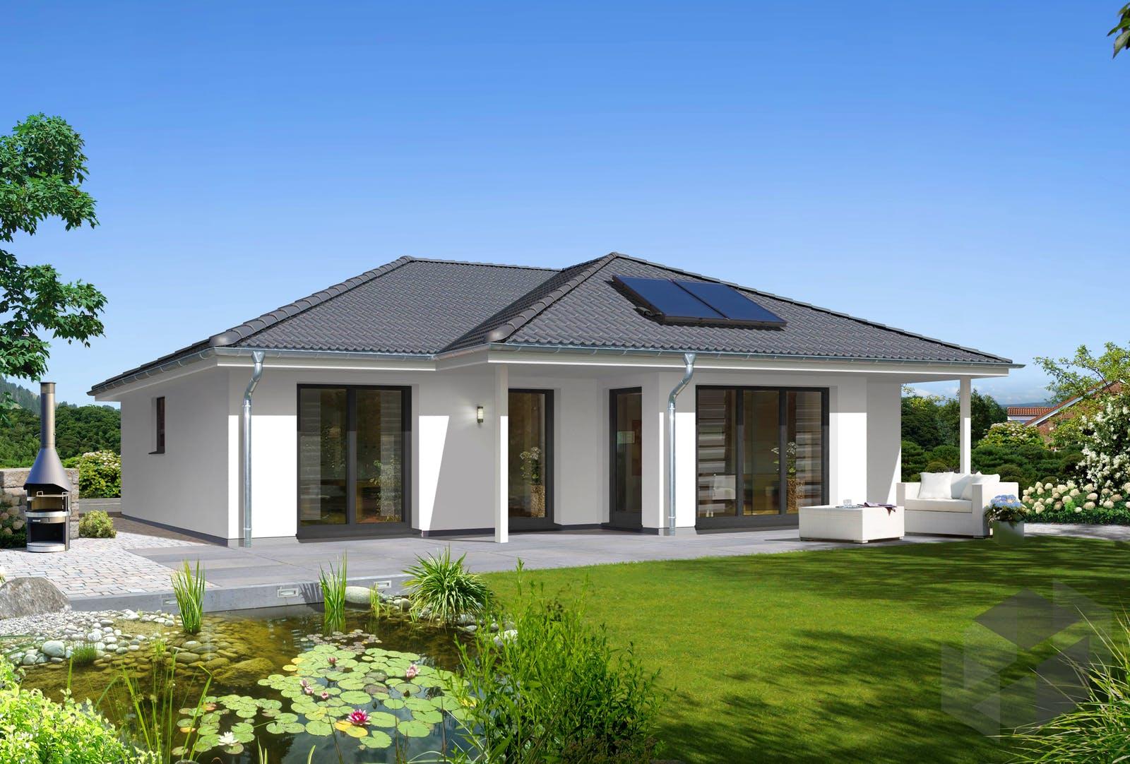 massivhaus bungalow 128 var trend von town country haus. Black Bedroom Furniture Sets. Home Design Ideas