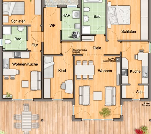 Bungalow 128 Var. Trend floor_plans 0